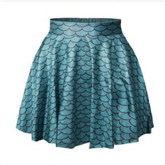 Little Mermaid Skirt Ariel Skirt Dance Wear Rave wear.club Wear Blue... ($22) ❤ liked on Polyvore featuring grey, skirts and women's clothing