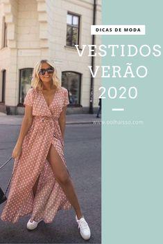 Summer Dresses Meet 3 models who will be in the .- Vestidos para verão conheça 3 modelos que estarão em alta Summer Dresses Meet 3 Models That Will Be High Women's Summer Fashion, Fashion 2020, Girl Fashion, Fashion Outfits, Womens Fashion, Fashion Trends, Moda Blog, Feminine Style, Summer Looks