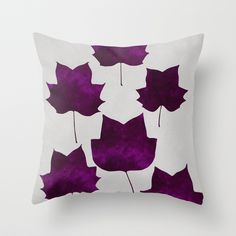 """Mapleleaf Purple"" Throw Pillow by Garima Dhawan on Society6."