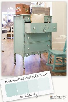 Colorways with Leslie Stocker » Miss Mustard Seed Milk Paint Eulalie's Sky