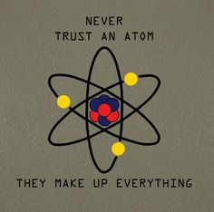 Science Atom quote Chemistry Science Home by NipomoImprints, $12.00