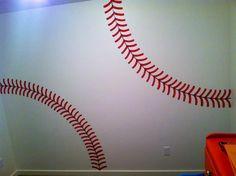 Baseball wall for kids Room.