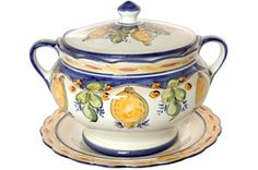 """Gorgeous """"Lemon Collection"""" soup tureen from Portugal"""