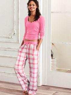 The Dreamer Henley Pajama - The Dreamer Flannel Collection - Victoria's Secret