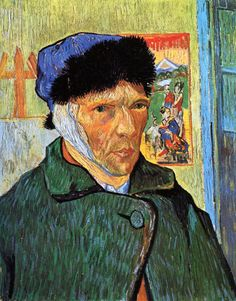"""""""Self-Portrait with Bandaged Ear"""" (1889) by Vincent Willem van Gogh"""