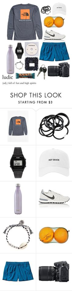 """#20 i hate you, i love you - gnash"" by julia-colburn ❤ liked on Polyvore featuring The North Face, H&M, KEEP ME, Casio, S'well, NIKE, Venessa Arizaga, Patagonia and Nikon"