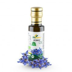 Certified Organic Cold Pressed Borage Oil 100ml Biopurus In the natural medicine, borage has been used to treat fevers and make poultices for wounds and ulcers since long ago. Today, borage has become fashionable again, especially due to the wide spectre of its possible uses as well as due to its surprising effectiveness. Borage oil contains as much as 20 % of the essential prostaglandin-synthetizing  GLA (gamma - linolenic acid)...