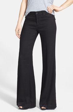 Hudson Wide Leg Twill Pants in Black <3