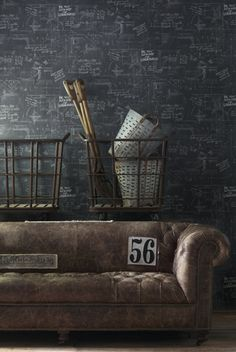 Oxford Wallpaper available in Charcoal, Grey, Sand Engineer Collection £69.90 - Visit Rockett St. George