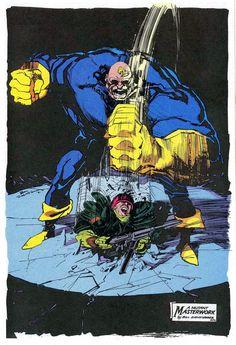 A Mutant Masterwork - Strong Guy by Bill Sienkiewicz * Marvel Comics Art, Marvel X, Marvel Comic Character, Marvel Characters, Comic Books Art, Comic Art, Book Art, Strong Guy, The New Mutants