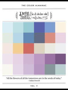 Color Almanac vol. Blue Paint Colors, Paint Color Schemes, Exterior Paint Colors, Mobile Home Decorating, Interior Decorating, Paint Shades, Hue Color, Layout, Design Seeds