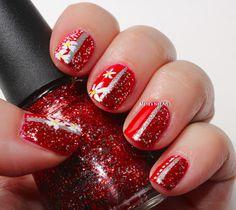 Red cream & glitter