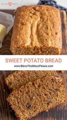 Sweet Potato Bread, Sweet Potato Recipes, Sweet Potato Pudding, Canning Sweet Potatoes, Mashed Sweet Potatoes, Bread Maker Recipes, Cooking Bread, Make Banana Bread, Fall Days