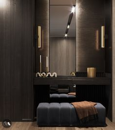Modern Home Decor Interior Design Hotel Room Design, Modern Bedroom Design, Bedroom Closet Design, Master Bedroom Design, Home Decor Bedroom, Decor Interior Design, Furniture Design, Interior Decorating, Mini Dressing