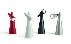 The Cornet LED Table Lamp brings sleek futuristic notes to the interior. Interior Design Magazine, Interior Design Inspiration, Led Desk Lamp, Table Lamp, Globe Lights, Wall Lights, Gabriel, Lighting Concepts, Lighting Ideas