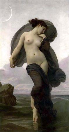 William-Adolphe Bouguereau Evening Mood 1882