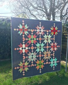 """At last we had some rain break and I got the apportunity to take a pic of my full quilt in natural light outside. I think the pic speaks louder than words ... and I would say only that the end result is fantastic and I personally love everything in this quilt ... Pattern: """"Both sides of the pond"""" from book jelly roll quilts ( Pam & Nicky Lintott) Fabric: #hellodarling #modafabric #modafabrics #ilovemodafabrics #bonnieandcamille #jellyrollquilt #modabakeshop #konacottonsolids #quilting ..."""