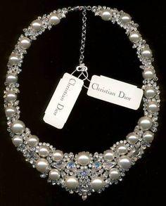 RARE Signed Christian Dior Wedding Necklace