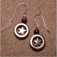 Moon & Stars Hematite Earrings ~ Sterling Silver  Available at Etsy.com (TheGemGirlJewelry) $20.55