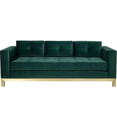 Hudson Sofa With New Matte Brass Contemporary, MidCentury Modern, Transitional, Metal, Upholstery Fabric, Sofa by Desiron