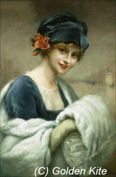 Young Girl with Fur Muff - Golden Kite cross stitch