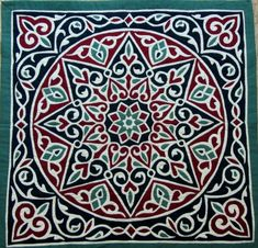 Egyptian hand-appliqued quilt, sold at the Global Village, Dubai Great cut work