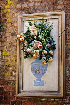 Custom artwork with floral arrangement- Edge Design Group