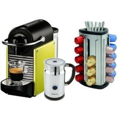 Nespresso D60 Pixie Lime Green Espresso Machine with Aeroccino Plus Milk Frother and Free 30 Capsule Carousel by Nespresso. $328.00