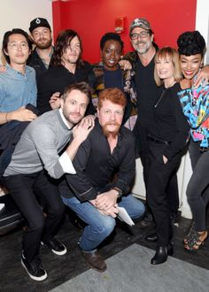 "dailytwdcast: """"Steven Yeun, Norman Reedus, Ross Marquand, Danai Gurira, Jeffrey Dean Morgan, Sonequa Martin-Green and Michael Cudlitz attend AMC presents 'The Walking Dead' at New York Comic Con at..."