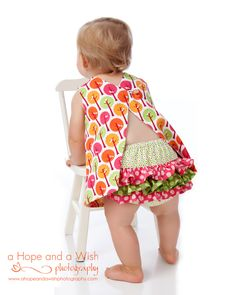 Ruffled Diaper Cover PDF sewing pattern by Tie Dye Diva