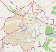 Mapa lokalizacyjna Kalisza