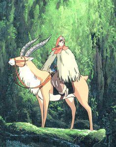 Princess Mononoke - Ashitaka and Yakul