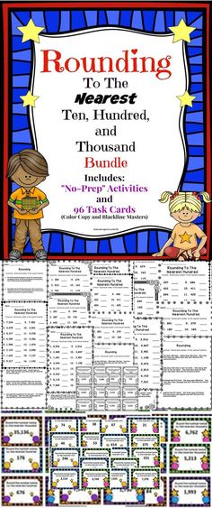 Rounding Bundle - A great resource to help students prepare for the standardized test! This resources includes over 100 pages of rounding activities!