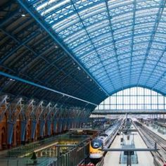 St.Pancras International,London This neo-Gothic red brick façade won raves when it was unveiled in 1868. And it's in the news again. After a 20th-century decline, St. Pancras got a recent £800 million makeover. Workers cleaned 300,000 pounds of dirt from the bricks and restored 8,000 panes of glass in the roof of the immense train shed. As a result, the station looks its part as one of the finest Victorian landmarks in London.  How to See It: Book the Chamber Suite at the newly restored St…