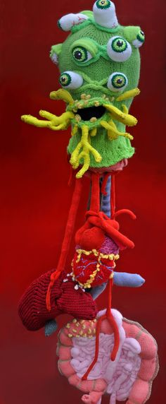 Knitted Monsterhead with Guts › Nerdcore