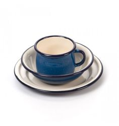 Nova Natural Toys + Crafts - enamel cup, bowl & plate set