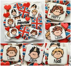 One Direction printable cookie template.