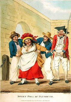 """Sweet Poll of Plymouth,"" Thomas Macklin, George Shepheard, Henry William Bunbury, 1790, National Maritime Museum."