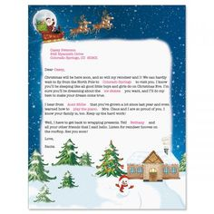 Letter From Santa Template Word  Where To Send Your Kids Letters