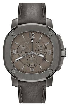 Burberry the Britain Chronograph Leather Strap Watch