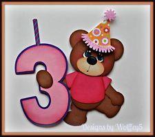 paper piecing birthday | ELITE4U BIRTHDAY GIRL # CHOICE paper piecing premade scrapbook page ...