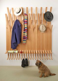Our modular hat and coat rack fits together to suit the space available, a beatuiful space-saver for commercial or domestic cloakrooms and hallways, bathrooms or bedrooms.