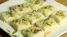 Milk (Khoya) Burfi Recipe by Manjula
