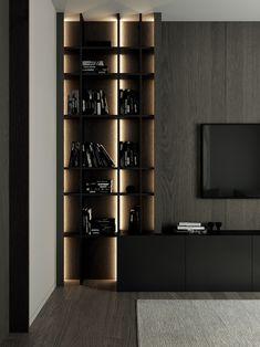 Home Room Design, Living Room Designs, House Design, Casa Milano, Muebles Living, Tv Wall Design, Living Room Tv, Apartment Interior, House Rooms