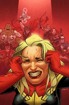 Captain Marvel & The Avengers - Joe Quinones