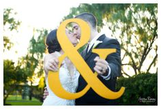Large 18 Ampersand Photo Prop & Wedding Sign - Painted Yellow or Choice of Color