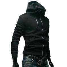Korean style  Men's Double Zipper Design Jacket