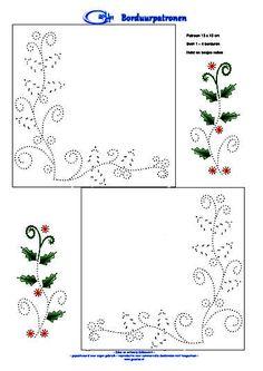 kerstborduurpatroon