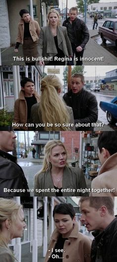 OUAT- Emma sticking up for Regina! Swan Queen!!!!!