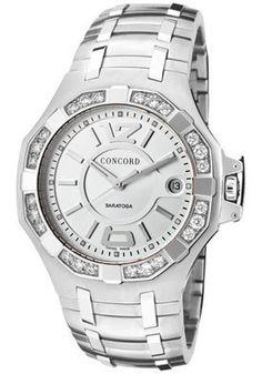 Concord Watch Men's Saratoga Silver...       $3,331.18